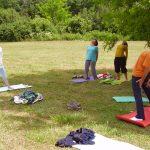 jóga nyári tábor Kisberényben az egészségért, jóga oktatás a természetben