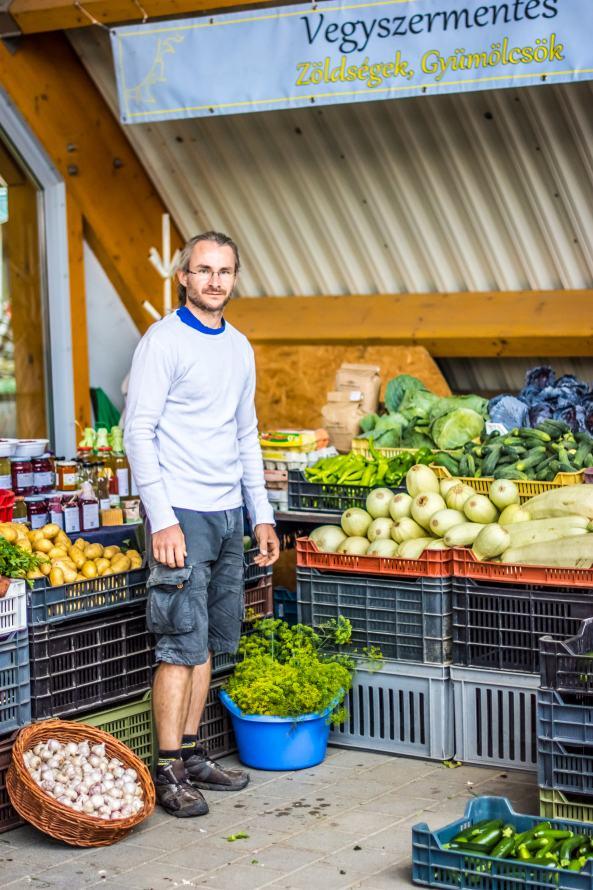 Tamás a kaposvári piacon